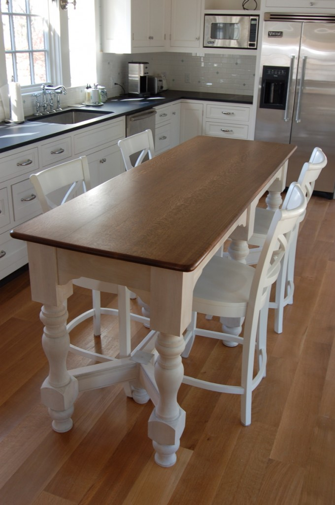 Island bench kitchen table kitchen design ideas for Kitchen island table with chairs