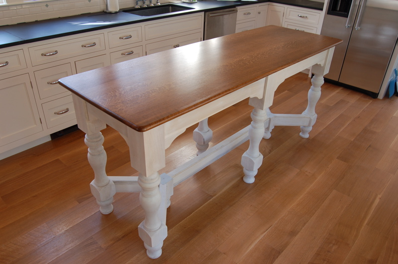 Island bench kitchen table afreakatheart for Kitchen island table